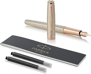 Parker 派克 十四行诗钢笔 | 玫瑰金凿银装饰 | 固态18k金精制笔尖 | 礼物盒