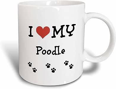 3dRose BrooklynMeMe 宠物 - I Love My - 贵宾犬 - 马克杯 白色 15盎司 mug_183649_2
