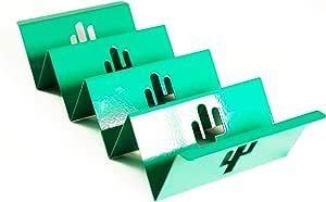 全新优质彩色托卡支架,带定制镂空设计 - 单个空食品架 - Taco Tortilla Shell 服务托盘 - 可持续食品架 - Taco 星期二乐趣 - Enu 绿色 中