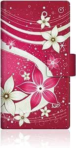 CaseMarket Galaxy J ( F ) 翻盖式原创设计超薄手机壳 [ 夏花乱舞和图案的植物–红花水流說這種瘋 ] Samsung