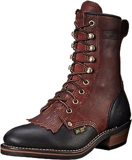 AdTec 女士 20.32 cm 包装工装靴 黑色/深樱桃色