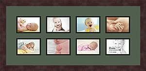 Art to Frames 双倍多衬垫-1040-868/89-FRBW26061 拼贴框架照片垫双衬垫 8-3.5x5 开口和Espresso 框架