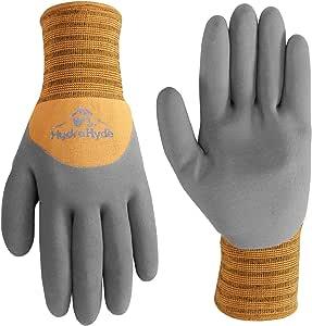 Wells Lamont 555M 厚橡胶丁腈涂层工作手套,耐切割冬季衬里 大 1132M