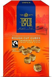 Tate and Lyle Fairtrade Demerara Rough Cut Sugar Cubes 1 kg (Pack of 4)