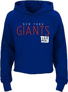 NFL New York Giants Youth Girls Ice Out 长袖连帽衫,深皇家蓝,青年中号(10-12)