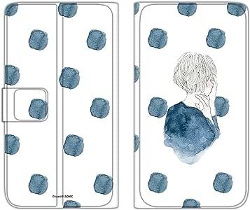 卡丽 手机壳 翻盖式 薄款印花翻盖 女孩和圆点WN-LC872191_ML 20_ Optimus G LGL21 女孩和波点 D