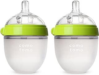 COMOTOMO 可么多么 嬰兒奶瓶, 綠顏色, 5 盎司/約142.06毫升(2個裝)