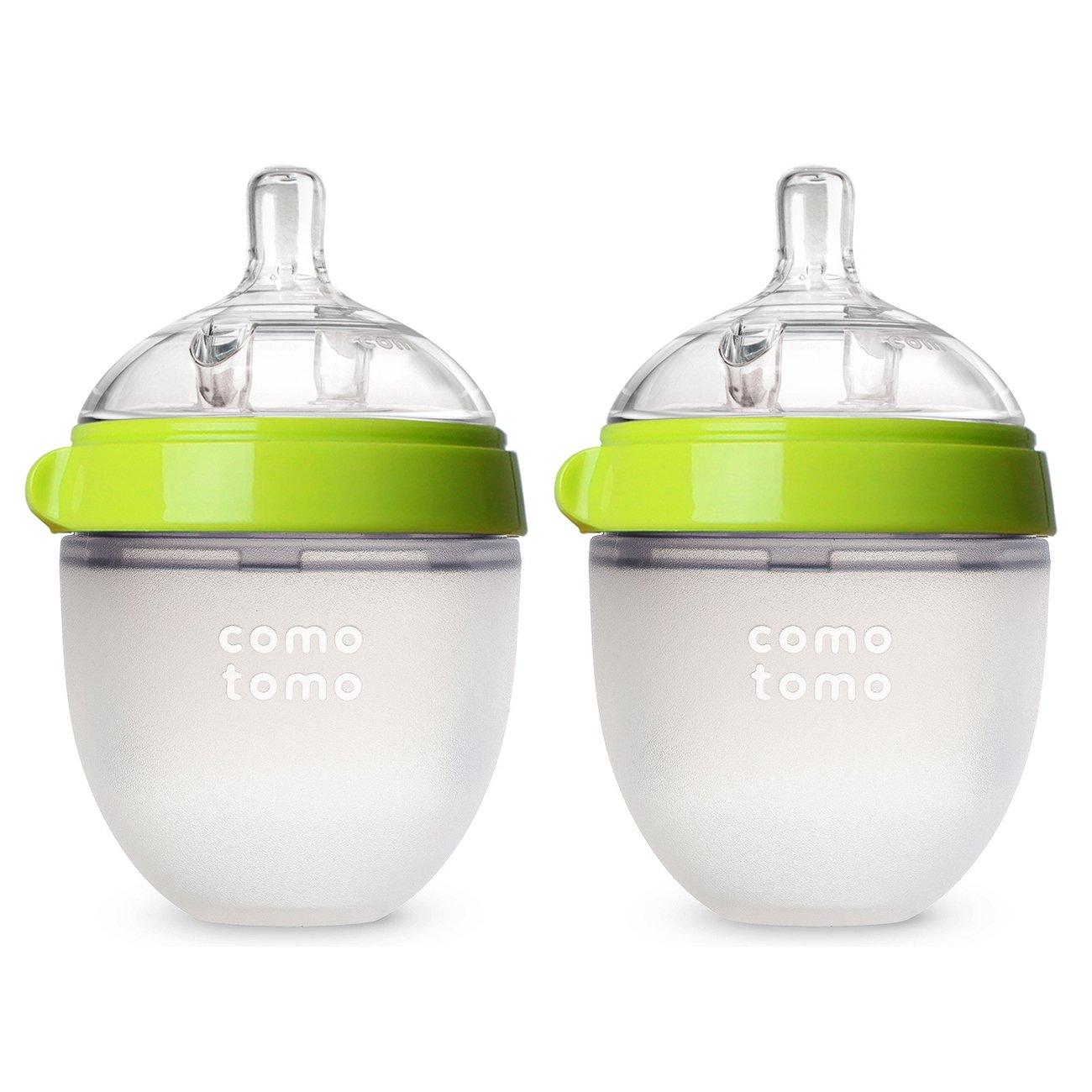 COMOTOMO 可么多么 婴儿奶瓶, 绿颜色, 5 盎司/约142.06毫升(2个装)