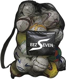 重型超大球网袋足球包装备袋适用于运动沙滩和游泳装备。 可调节肩带,适合成人和儿童。 侧袋可装个人物品 76.2 x 101.6 cm