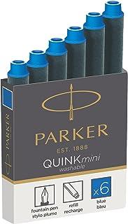PARKER 1950382补充 - 墨盒, 钢笔 QUINK 6er Packung Auswaschbare Blau