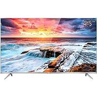 TCL 55A660U 55英寸 4K金属纤薄 64位30核 HDR智能液晶电视机(银色)(亚马逊自营商品,由供应商配送)