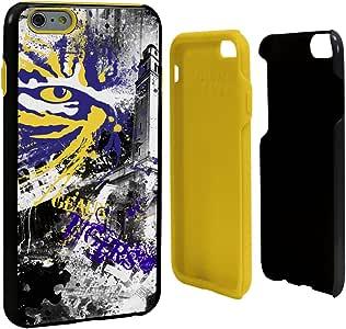 Guard Dog NCAA LSU Tigers Paulson Designs Spirit Hybrid 手机壳适用于 iPhone 6 Plus,均码,黑色