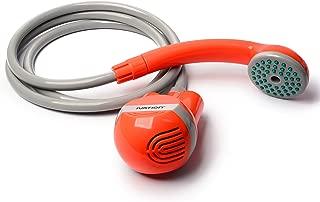 Ivation 便携式户外淋浴器,电池供电 - 紧凑型手持充电野营淋浴头 - 从桶中泵水到稳定、温和淋浴流