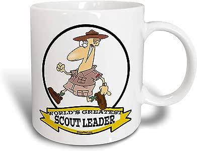 3drose dooni Designs worlds greatest 漫画–趣味 worlds greatest scout LEADER 卡通–马克杯 白色 15盎司