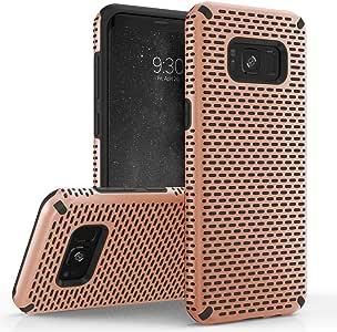 Zizo Echo 系列兼容三星 Galaxy S8 手机壳双层 TPU 和 PC 防滑手柄 玫瑰金 & 黑色