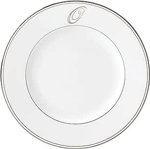 Lenox Federal Platinum Script Monogram 餐具晚餐盘,O