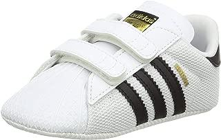 adidas Boys' Superstar Crib Walking Baby Shoes