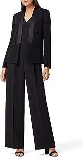 Tahari ASL 女式缎面装饰双排扣燕尾服外套