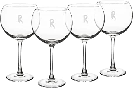 Cathy's Concepts HW16-1109R-A 字母 A 个性化迷人的红*杯(4 只装),透明 Spooky Red HW16-1109R-R