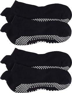 Hurriman 男式瑜伽袜防滑防滑粘性袜子带抓地力瑜伽、*、普拉提、Barre