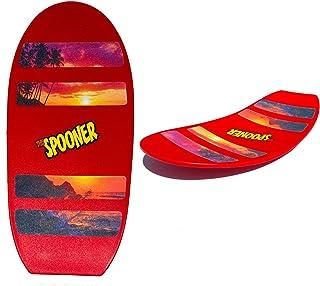 Spooner Boards 自由式无轮旋转滑板-红色