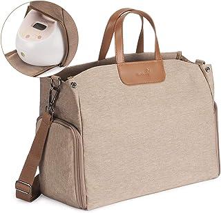 Momcozy 吸奶器和尿布袋,大容量尿布袋,适合旅行使用 棕色 X大码
