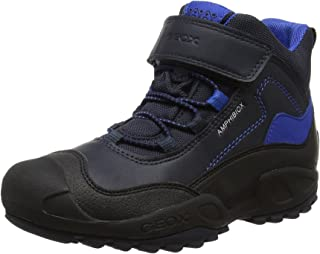 Geox 男孩 J New Savage B ABX 高帮运动鞋 Blue (Navy/Royal) 8.5 UK Child