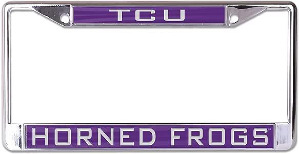 WinCraft NCAA 德克萨斯基督教角青蛙镶嵌金属车牌架,2 个标签角