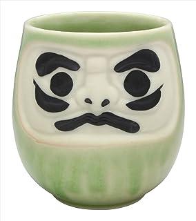 绣花轻盈 茶杯 绿 240ml 美浓烧 风水 茶杯 茶杯 才能运 K12004