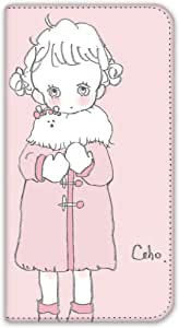 caho 保护套双面印花翻盖外套与少女手机保护壳翻盖式适用于所有机型  コートと少女E 21_ G2 L-01F