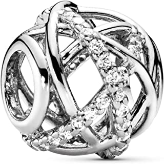 Pandora 女式 9 k 银锆石魅力饰品