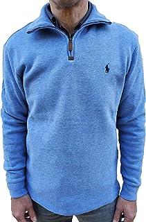 POLO ralph lauren 男式半拉鏈法國羅紋棉質毛衣