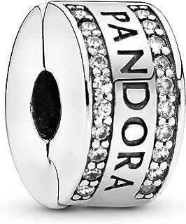 Pandora 潘多拉 丹麦品牌 标志925银硅胶固定夹 792056CZ