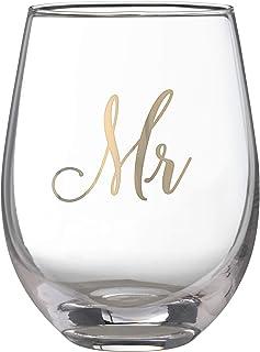 Lillian Rose G115 Gold Mr. Stemless 酒杯,16 盎司,黄色