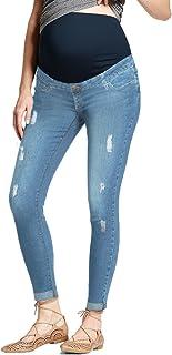 HyBrid & Company 超舒适弹力女士紧身孕妇牛仔裤