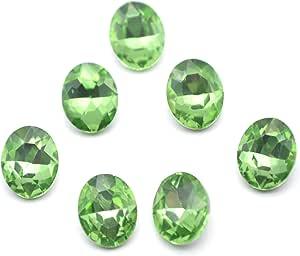 Catotrem 椭圆形水钻玻璃切面圆形钻石银色点后珠饰品首饰 8X10mm 60 颗 * 8X10MM