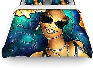 Kess InHouse Mandie Manzano 68 x 88 英寸被套 多种颜色 Queen MM3032ADC02