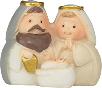 Dicksons 圣家族树脂装饰桌面雕像 奶油白色 2 CHFIGR-609