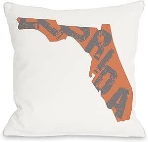 Bentin 家居装饰佛罗里达州型抱枕 带拉链 OBC 出品 18x18 Pillow With Zipper 12017PL18Z