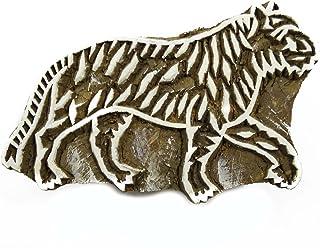 """木制印刷块马图章木块艺术手工雕刻印度印章 Pb 设计 #1 5"""" x 3.2"""" Inches PB1362"""