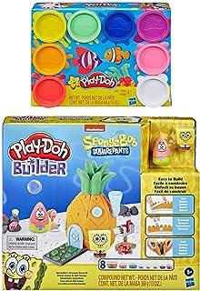 Play Doh Builder 海绵宝宝 菠萝屋玩具积木套装 + Play Doh 8 包彩虹化合物