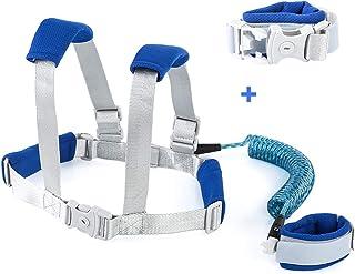Rehomy 幼儿防丢失腕带,*反光婴儿行走牵引带 蓝色 2.5m/8.2ft