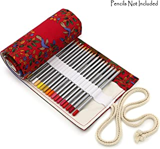 BTSKY 帆布72槽铅笔卷袋,适合 Prismacolor优质彩色铅笔