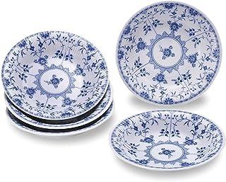 Bloom 美浓烧 Blue Shell蓝色贝壳 8英寸(约20.3厘米)咖喱盘套装 89726