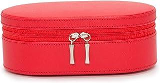 WOLF Heritage 拉链首饰盒,红色十字纹