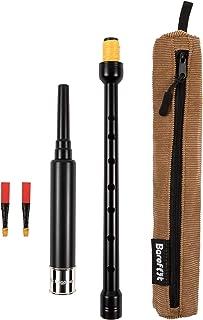 赤脚手枪练习枪管管管管管标准长度,45.72 厘米,带全尺寸孔间距和镀镍雕刻套圈。 棕褐色灯芯绒手提箱。 2 个优质簧片。 学习高地风管。