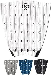 牵引垫适用于冲浪、滑板、Wake Surf - 3 片式垫子带 3M 粘合剂。 抓握所有板 - 冲浪板、短裤板、长板、踏板、SUP - 高级 EVA 泡沫[颜色选择 - 白色]