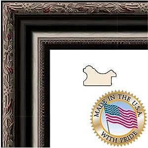 ArtToFrames 7x22 / 17.78 x 55.88 厘米相框黑色带红色下色调。 2.125 英寸宽 (2WOMH120101)