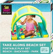 SunSmart 便攜式海灘時間玩具套裝 W/玩具和遮蓬