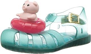 Mini Melissa Mini Aranha Xi 儿童芭蕾平底鞋 绿松石/纯色 10 M US Toddler